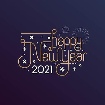 Szczęśliwego nowego roku 2021 powitanie