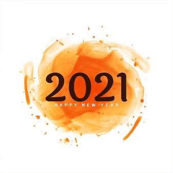 Szczęśliwego nowego roku 2021 pozdrowienia nowoczesne