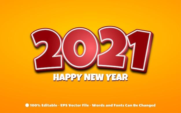 Szczęśliwego nowego roku 2021 sformułowanie dla karty z pozdrowieniami