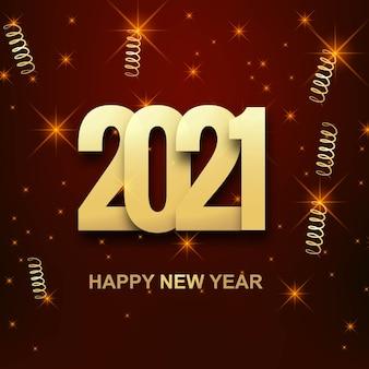 Szczęśliwego nowego roku 2021 tło uroczystości wakacje