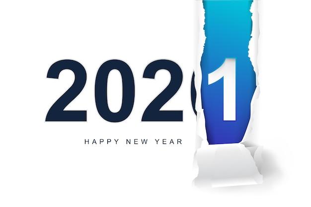 Szczęśliwego nowego roku 2021 tło