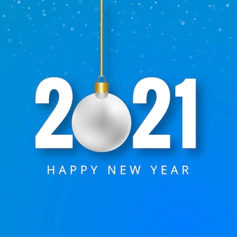 Szczęśliwego nowego roku 2021 twórcze tło