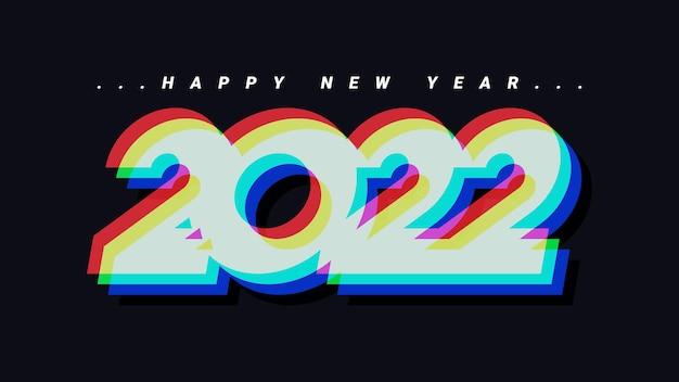 Szczęśliwego nowego roku 2022 abstrakcyjne tło