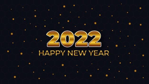 Szczęśliwego nowego roku 2022 abstrakcyjny nowoczesny złoty wzór z tłem bokeh