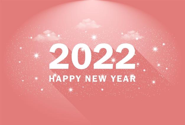 Szczęśliwego nowego roku 2022 celebracja transparentu z chmurami