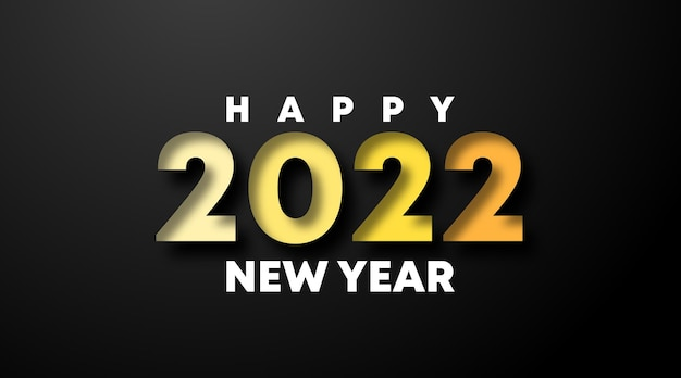 Szczęśliwego nowego roku 2022 ilustracja tło. szczęśliwego nowego roku baner internetowy i ulotka