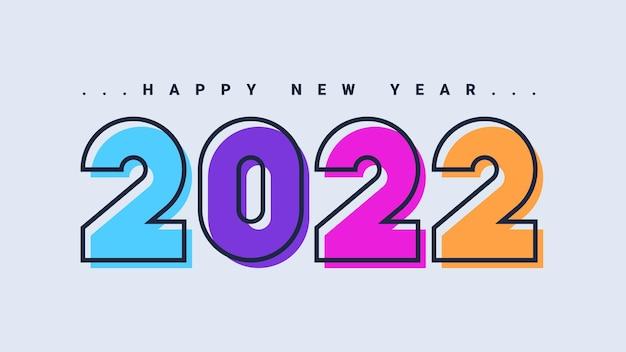Szczęśliwego nowego roku 2022 kartkę z życzeniami