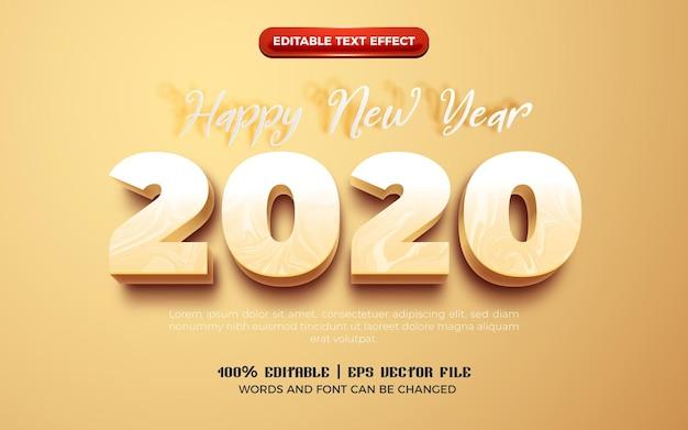 Szczęśliwego nowego roku 2022 kremowy pogrubiony efekt edytowalnego tekstu kreskówki