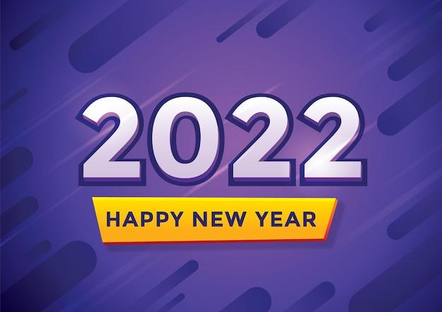 Szczęśliwego nowego roku 2022 na tle kilku owalnych kształtów w różnych kolorach