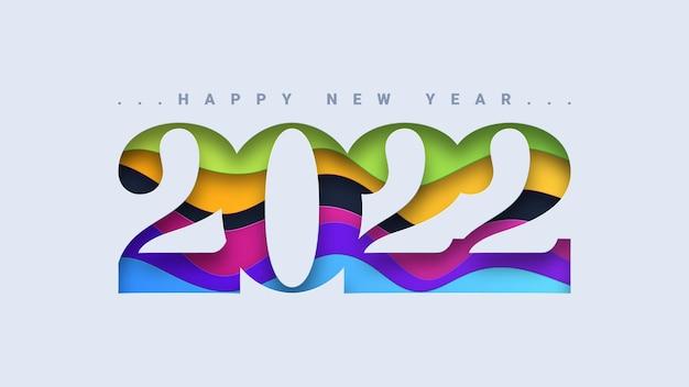 Szczęśliwego nowego roku 2022 projekt typografii tekstu