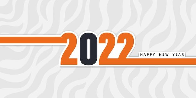 Szczęśliwego nowego roku 2022 świąteczne tło z wzorem tygrysa i liczbami w płaskim stylu