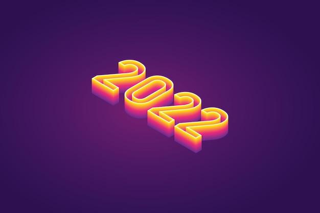 Szczęśliwego nowego roku 2022 tło gradientowe
