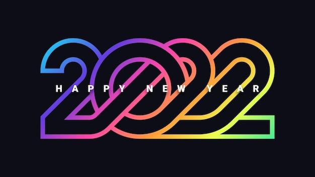 Szczęśliwego nowego roku 2022 tło uroczystości