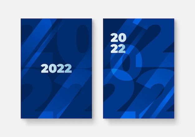 Szczęśliwego nowego roku 2022 tupot projekt okładki, ilustracji wektorowych. raport roczny 2022, przyszłość, biznes, projekt układu szablonu, okładka książki. ilustracja wektorowa, prezentacja streszczenie płaskie tło
