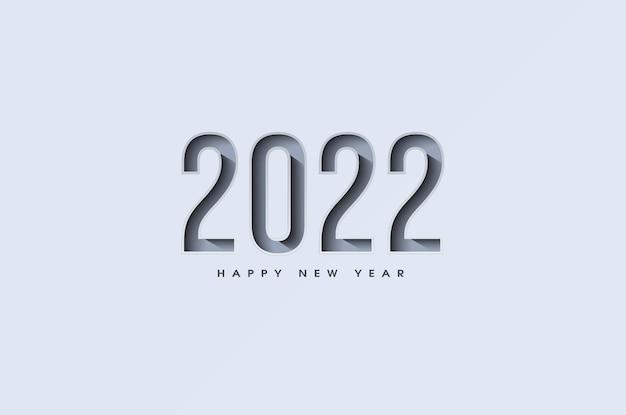 Szczęśliwego nowego roku 2022 z ilustracją numeru do krojenia do wewnątrz