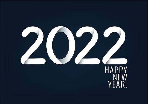 Szczęśliwego nowego roku 2022 z kreatywnym szablonem projektu