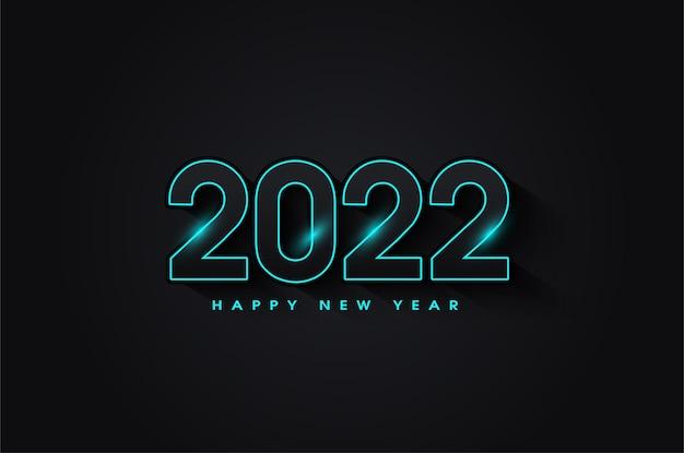 Szczęśliwego nowego roku 2022 z luksusowym designem