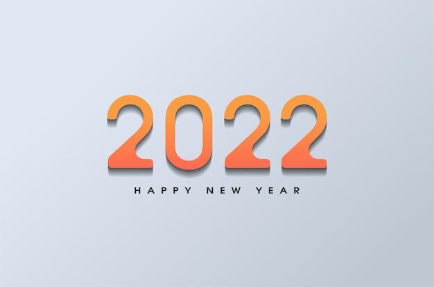 Szczęśliwego nowego roku 2022 z miękkim cieniowanym płaskim wzorem