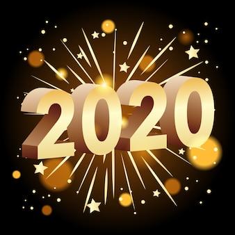 Szczęśliwego nowego roku banner 2020