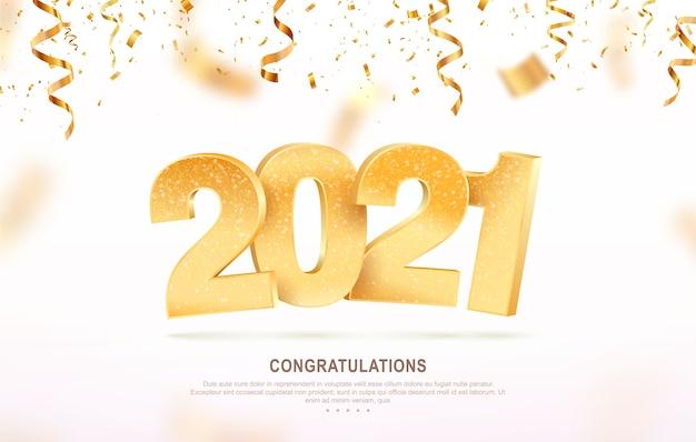 Szczęśliwego nowego roku. boże narodzenie tło wakacje z spadającymi konfetti