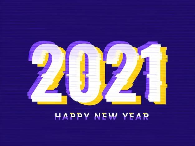 Szczęśliwego nowego roku dwadzieścia jeden koncepcja