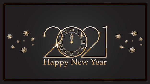 Szczęśliwego nowego roku. elegancki złoty tekst na tle.