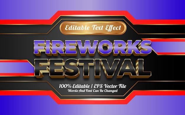 Szczęśliwego nowego roku festiwal styl szablonu efektu tekstowego 3d