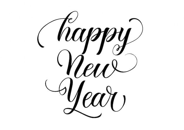Szczęśliwego nowego roku kaligrafii