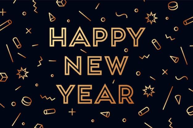 Szczęśliwego nowego roku. kartkę z życzeniami z napisem szczęśliwego nowego roku.