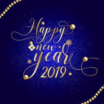 Szczęśliwego nowego roku karty 2019