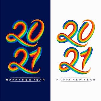 Szczęśliwego nowego roku kolorowych ilustracji