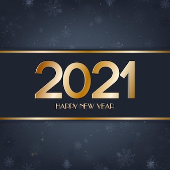 Szczęśliwego nowego roku niebieskie i złote tło