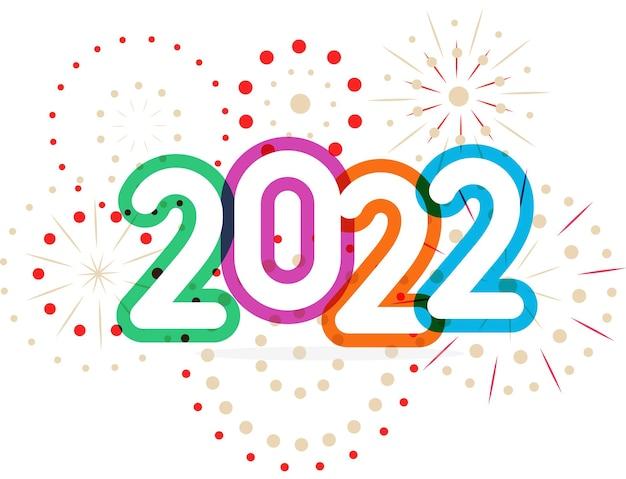 Szczęśliwego nowego roku obchody karty okładka kalendarza transparent plakat kolor numery z wektorem fajerwerków