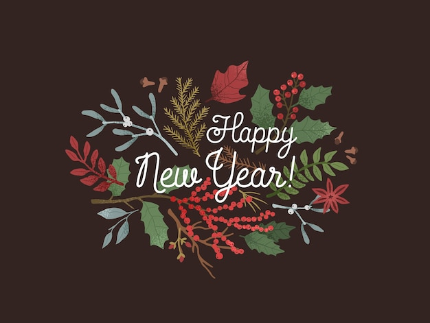 Szczęśliwego nowego roku pozdrowienia tło