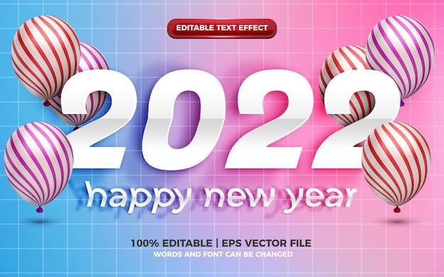 Szczęśliwego nowego roku realistyczny efekt wycinania papieru z edytowalnym tekstem