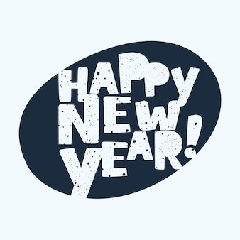 Szczęśliwego nowego roku rocznika kartkę z życzeniami. tło z nowoczesnym napisem.