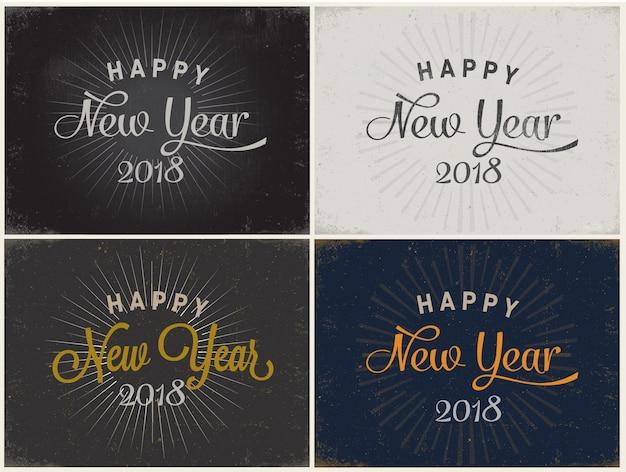 Szczęśliwego nowego roku rocznika kartkę z życzeniami