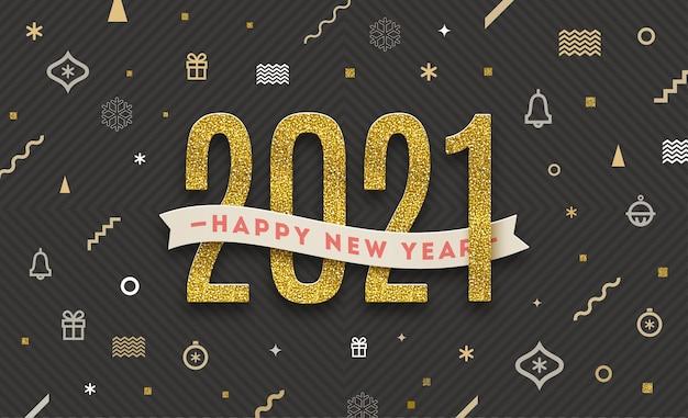Szczęśliwego nowego roku - święta greeying ilustracja.
