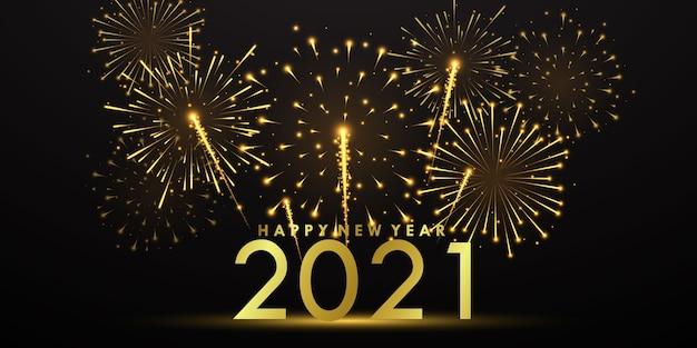 Szczęśliwego nowego roku świętuj fajerwerkami