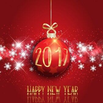 Szczęśliwego nowego roku tła z cacko wiszące