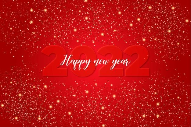 Szczęśliwego nowego roku tło ze światłami