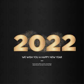 Szczęśliwego nowego roku tło ze złotymi numerami