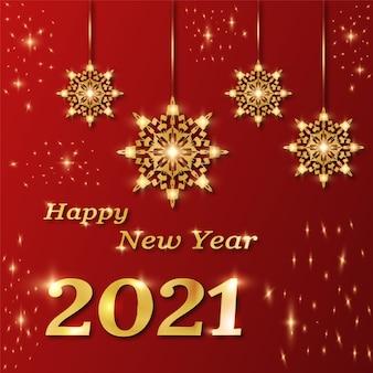 Szczęśliwego nowego roku transparent z luksusowych ozdobnych mandali, arabeska styl.