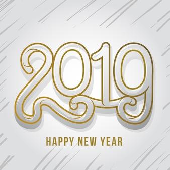 Szczęśliwego nowego roku typoraphy