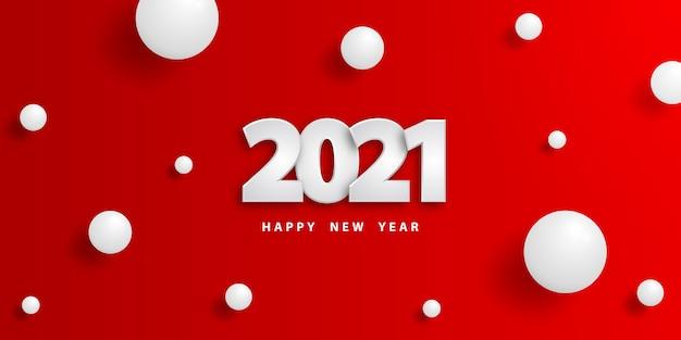 Szczęśliwego nowego roku uroczysty sztandar z kulkami