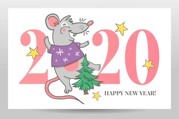 Szczęśliwego nowego roku wesołych świąt