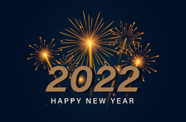 Szczęśliwego nowego roku z fajerwerkami