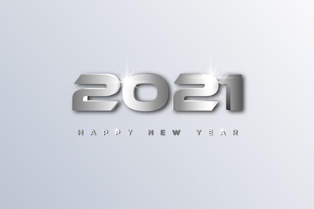 Szczęśliwego nowego roku ze stopniowaną liczbą pośrodku