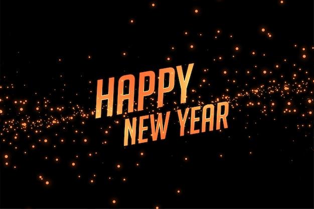 Szczęśliwego nowego roku złoty blask tło