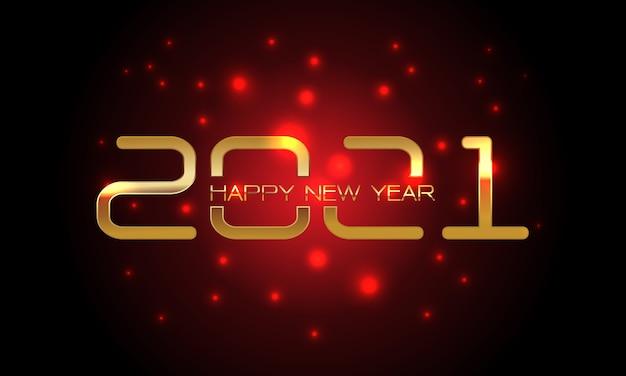 Szczęśliwego nowego roku złoty numer i tekst na czerwonym świetle rozmycie czerni na obchody święta odliczania